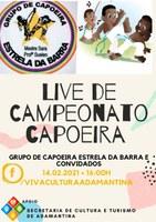 Cultura promove Live de Capoeira neste domingo(14)