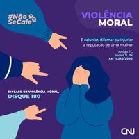 Violência Moral - NÃO SE CALE